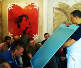 Мастер-класс в городе Кривой Рог по нанесению декоративных штукатурок Cebos Color
